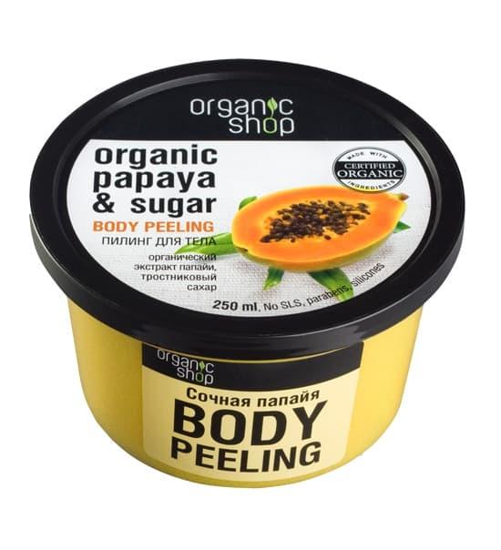 Купить со скидкой Body Piling Organic Papaya  Sugar Пилинг Для Тела Сочная Папайя